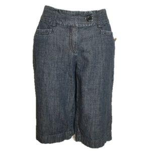 Ann Taylor Dark Blue Denim Curvy Capri Pants